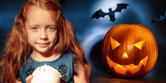 Vyrábění svíček nebo ozdob na Halloween