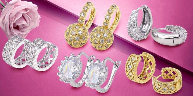 Nádherné šperky Selected Collection se třpytivými zirkony