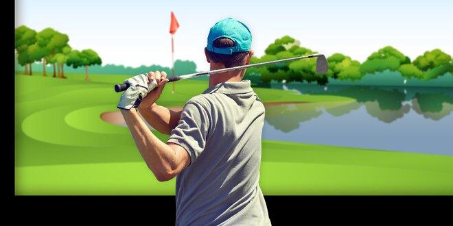 60 minut indoor golfu na profi simulátoru