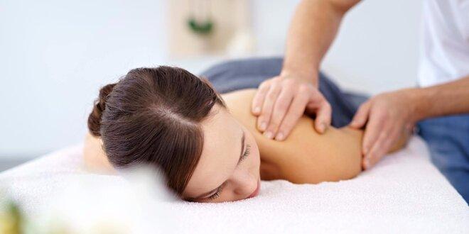 Breussova masáž páteře s hloubkovou masáží svalů