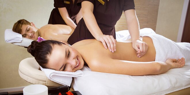 60minutová párová masáž pro naprosté uvolnění