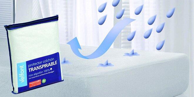 Dva antibakteriální froté chrániče na matraci
