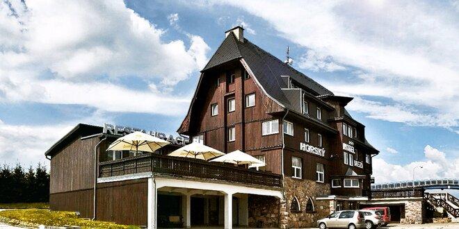 Stylový horský hotel: chutná večeře i sauna
