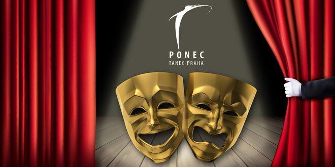 Kupon na slevu 37 % na představení divadla Ponec