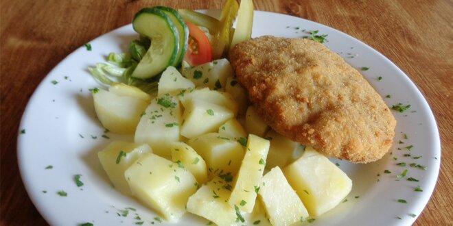 Holandský řízek s bramborem
