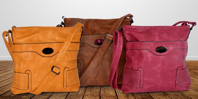 Dámská crossbody kabelka v podzimních barvách