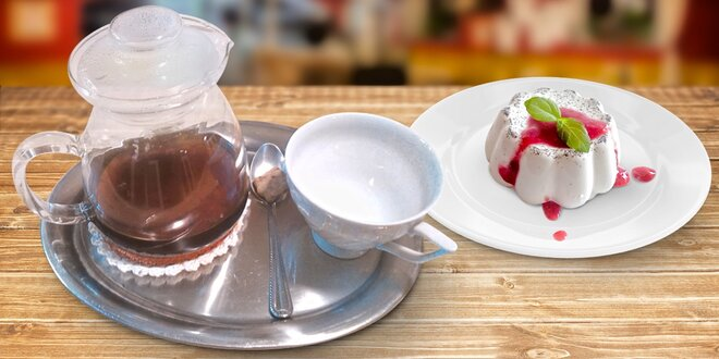 Výběrová filtrovaná káva s panna cottou