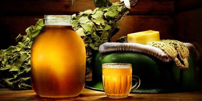 Privátní odpočinek pro dva v pivních lázních