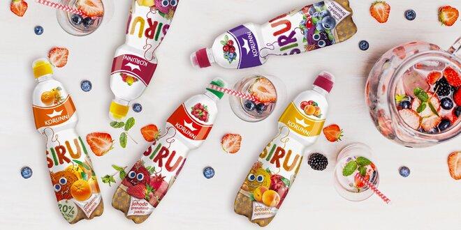 Sirupy Korunní: 6 oblíbených ovocných příchutí