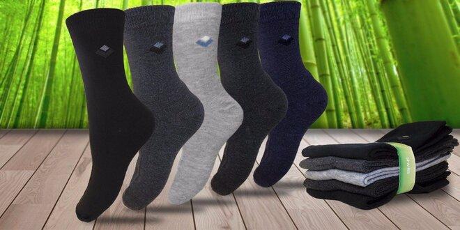 Pět párů pánských bambusových ponožek