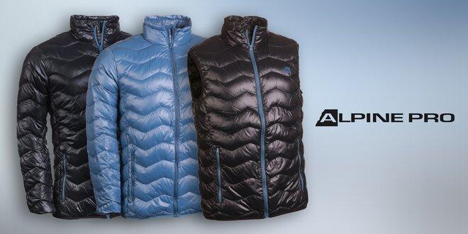 Pánské ultralehké péřové bundy a vesta Alpine Pro
