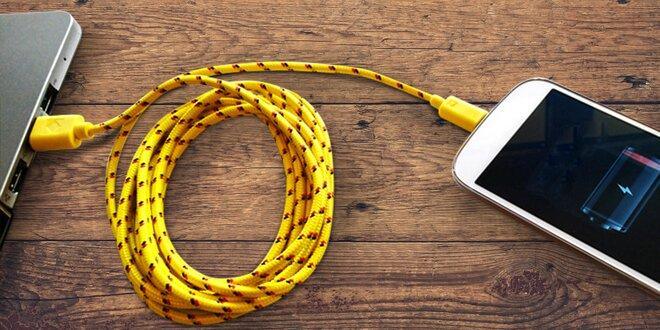 Dobíjecí kabel pro microUSB v délce 3 m