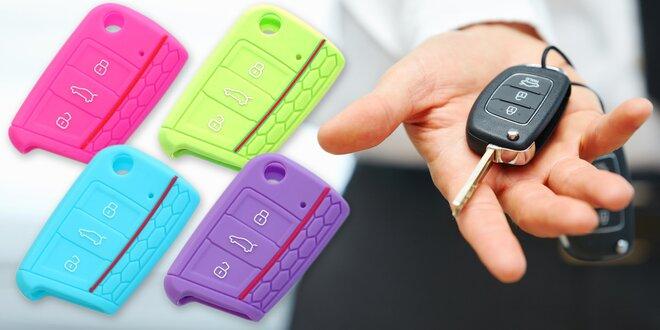 Barevné silikonové obaly na autoklíče Škoda a VW