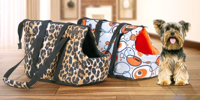 Cestovní tašky pro menší psíky