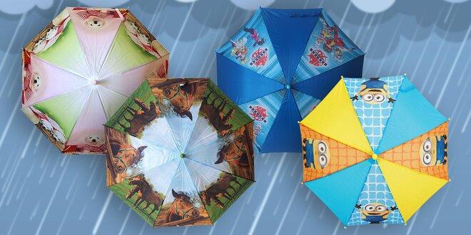 Dětské deštníky pro malé parádnice i raubíře
