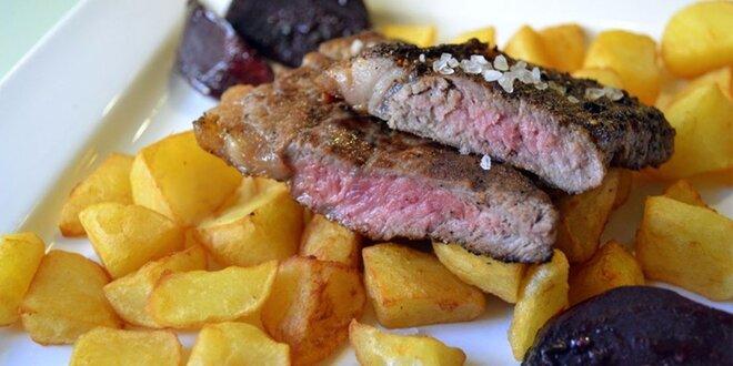 Steak z býčka a další chody pro 2 v Dynamu