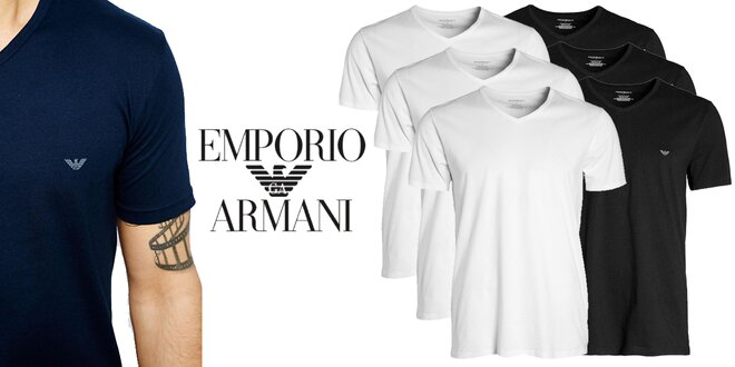 Sada 3 pánských triček Emporio Armani  d3b37ef880