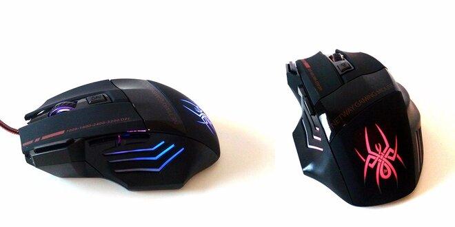 Herní myš Spider JD USB s citlivostí až 3200 DPI