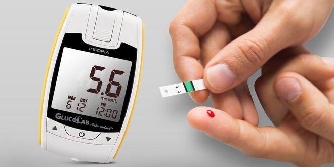 Glukometr GlucoLab s 25testovacími proužky
