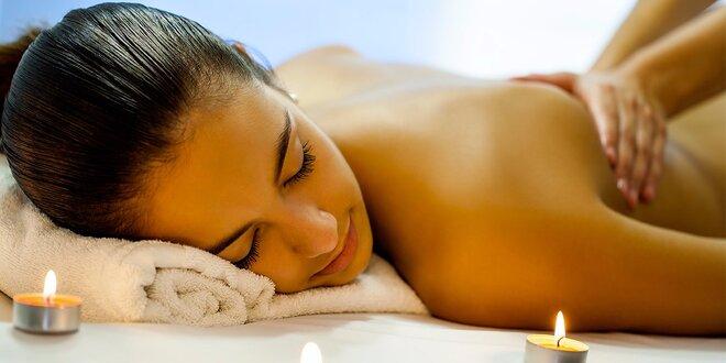 90 minut relaxace: masáž a aroma lázeň