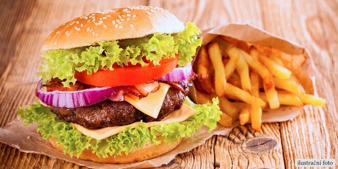Skvělý burger v rokycanské Pivnici Lidový dům