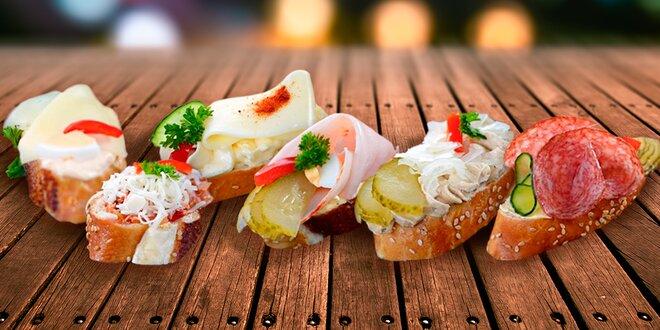 Obložené chlebíčky pro slavnostní příležitosti
