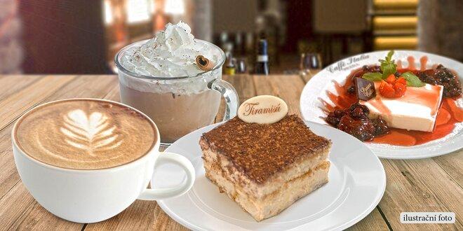 Lahodný dezert a nápoj pro dva v Caffé Italia