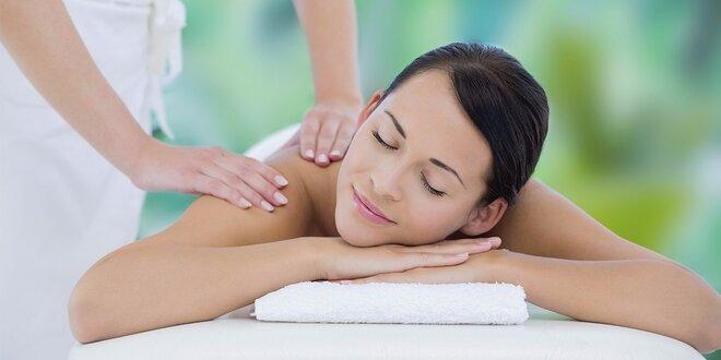 60minutová uvolňující masáž zad a šíje