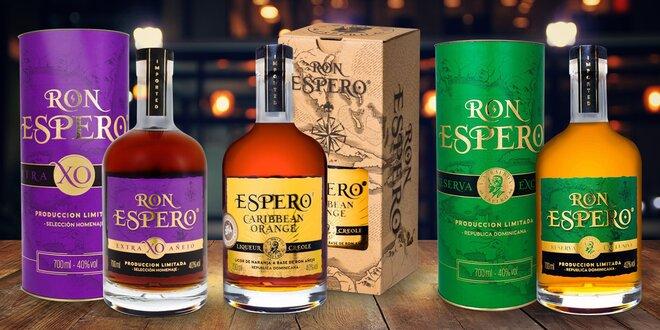 Rumy Espero exkluzivně s rumem Extra Anejo XO