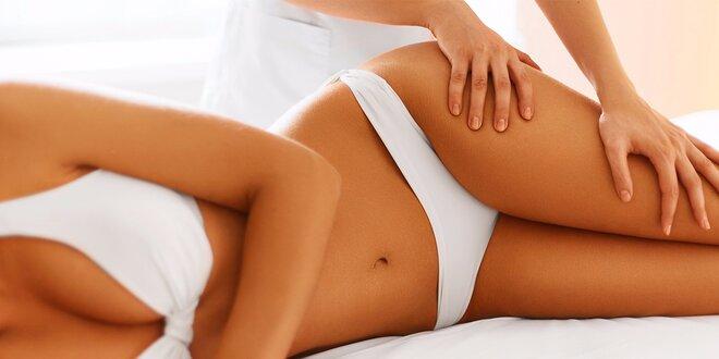 Anticelulitidní masáž zaměřena na nohy, hýždě a břicho