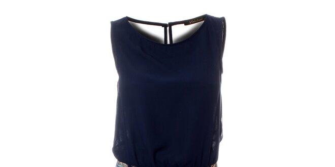Dámské tmavě modré šaty Via Bellucci s potiskem