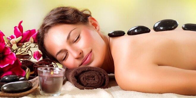 50minutová prohřívací masáž lávovými kameny