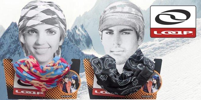 Multifunkční šátek Loap na hlavu i krk