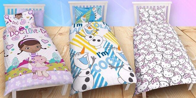 Usínání s oblíbenými pohádkovými hrdiny: Dětské povlečení s Olafem i Kitty