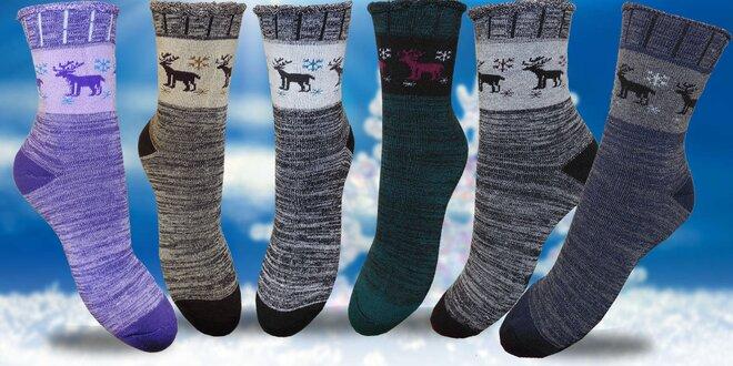 Dámské bambusové termo ponožky