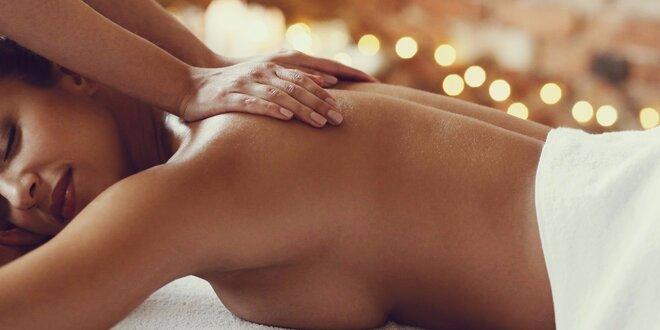 60minutová sportovně-relaxační masáž zad a šíje