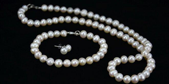 Nádherný set šperků ze sladkovodních perel