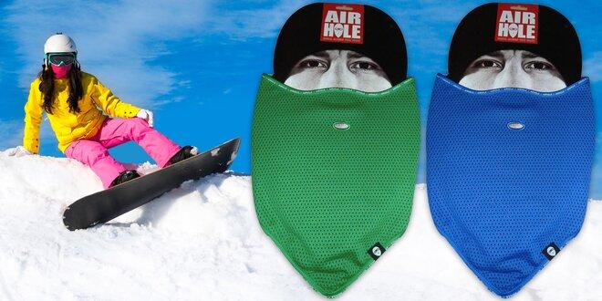 Funkční lyžařské šátky a kukly Airhole