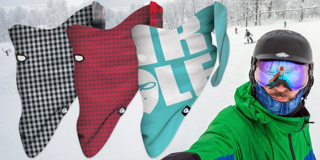 Zima nemá šanci: Obličejové šátky na suchý zip