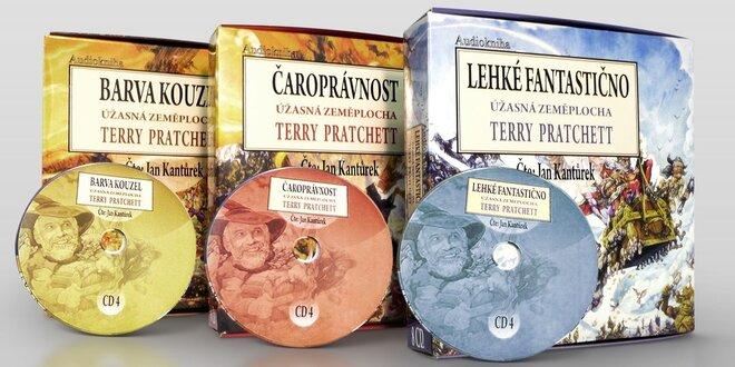 Série prvních tří audioknih Terry Pratchetta