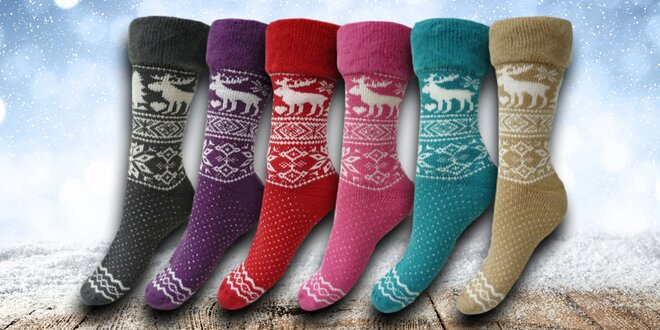 0bfe326404a Dámské hřejivé ponožky s ovčí vlnou
