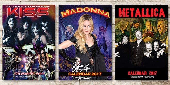 Hudební skupiny - kalendáře 2017
