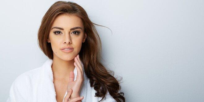 Kosmetické ošetření pleti s masáží hlavy a rukou