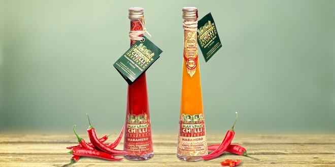 Pikantní šťáva z chilli papriček habanero