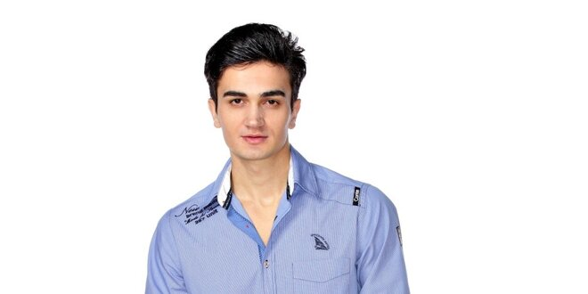 Pánská světle modrá jachtařská košile M. Conte
