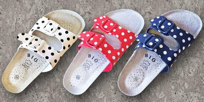 Dámské pantofle Samlux s tečkovaným vzorem