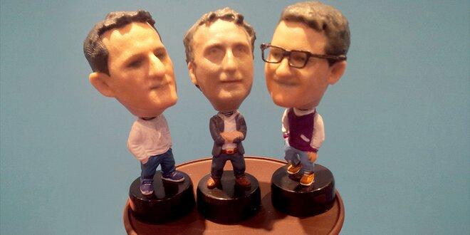 3D figurka s hlavičkou na pružince