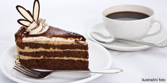2x vymazlená italská káva a dort v Cafe Star
