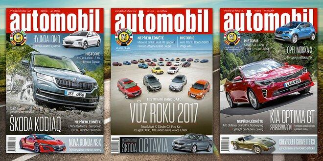Roční předplatné časopisu Automobil 2017