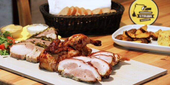 Maso na dlažbě: Pečená specialita s přílohami